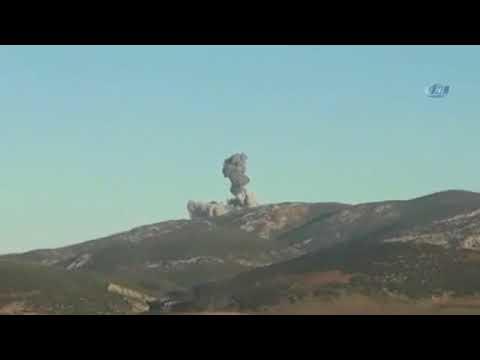 Türk Jetleri Afrin'i Bombalıyor