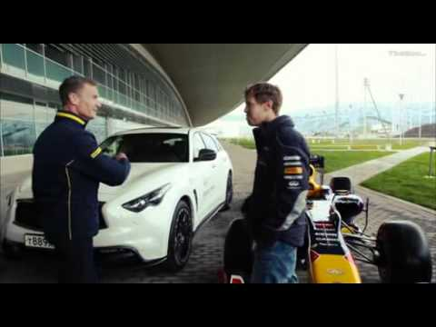BBC F1 2013: Sebastian Vettel and David Coulthard Visit Sochi Olympic Park Circuit