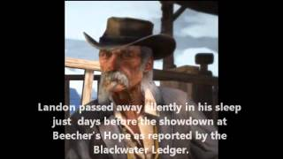 Red Dead Redemption: The Characters: After You Beat the Game [SPOILERS!!]