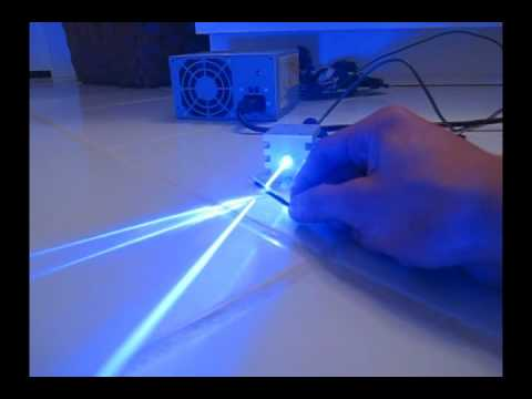 1000mW BLUE Laser Burning Stuff! - 445nm @ 1W Video
