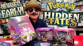 NEW HIDDEN FATES POKEMON CARDS LAUNCH PARTY! EARLY OPENING ENTIRE CASE OF PIN COLLECTION BOXES! pt 1