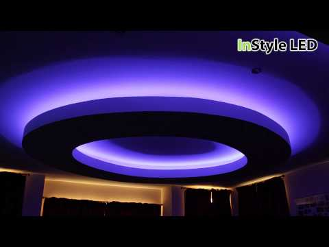 RGB LED Tape Lighting Creates This Striking Luxury Residential Interior - Home LED Strips