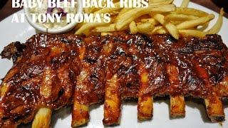 Baby Beef Back Ribs at Tony Roma's - Kuala Lumpur Trip