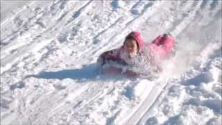 Kids Having Fun In The Snow