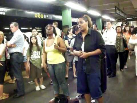 NYC subway gospel singers