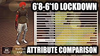 "NEW PURE LOCKDOWN DEFENDER! 6""8-6""10 LOCKDOWN DEFENDER ATTRIBUTE COMPARISON!!- NBA 2K19"