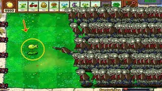 1 Peashooter vs 999  Basic Zombie Hack Plants vs Zombies 100%