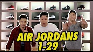 AIR JORDANS 1-29 EXPLAINED