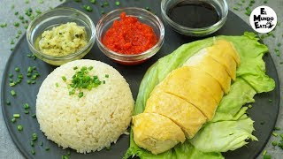 Hainanese Chicken Rice with 3 Sauces