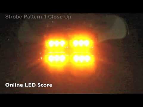 18x LED Economical Emergency Vehicle Strobe Warning Windshield Dash Light - Amber