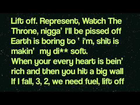 Kanye West & Jay-Z - Lift off Feat. Beyonc LYRICS ON SCREEN