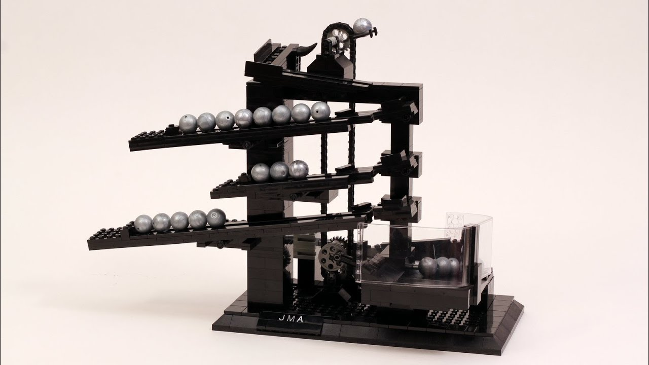 lego rolling ball clock youtube. Black Bedroom Furniture Sets. Home Design Ideas