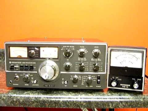 Tuning a tube transmitter Kenwood TS-520 example