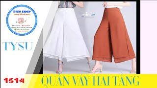 Cắt may tysushop 1514 Quần Váy Hai Tầng - cutting &stitching