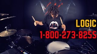 Logic - 1-800-273-8255 ft. Alessia Cara, Khalid - Drum Cover