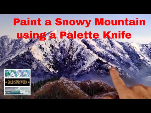 How to Paint a Snowy Mountain in Acrylic