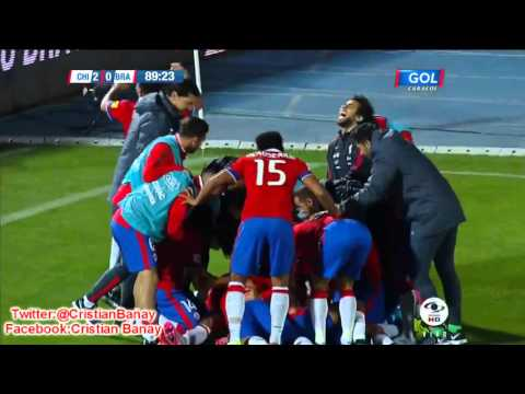 Chile 2 Brasil 0 (ADN Radio Chile) Eliminatorias Rusia 2018