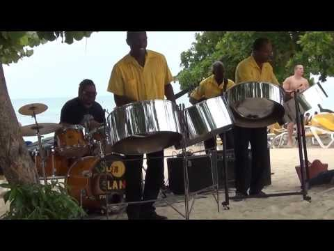 Paul Nanuwa with the Sun Island Steel Band in Jamaica 2013