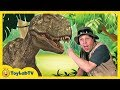 Real Life T-REX Chase at GIANT LIFE SIZE DINOSAURS Park & Pla...