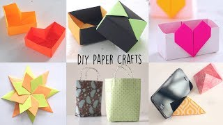 6 Lovely Paper Crafts | DIY Craft Ideas | Art All The Way