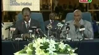 Conférence De Presse Du President Ouattara Et Du President Wade