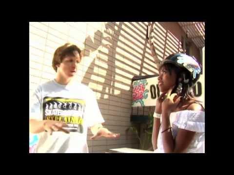 Shanica Knowles learns how to skateboard ( Hannah Montana Disney )