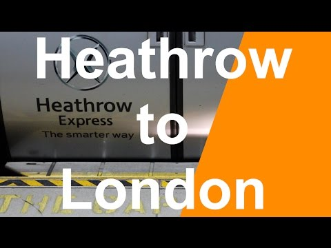 Heathrow to London on public transport