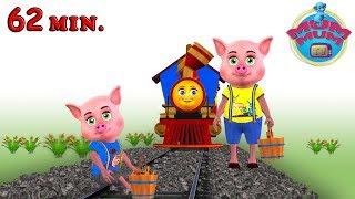Piggy On The Railway Line Song - Best Baby Nursery Rhymes Songs in English | Mum Mum TV