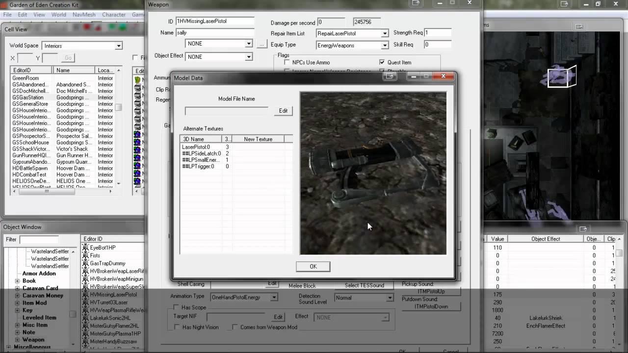 Fallout new vegas geck weapon modding - youtube