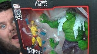 Marvel Legends Marvel 80th Anniversary Hulk Vs Wolverine 2-Pack Action Figure Review