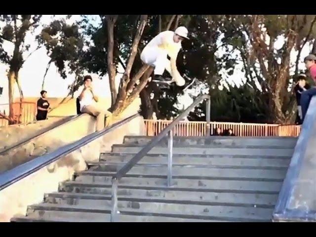 INSTABLAST! - Benihana 50-50 Handrail!! Angry Old Lady!! Ollie Body Varial To 50-50 Handrail!