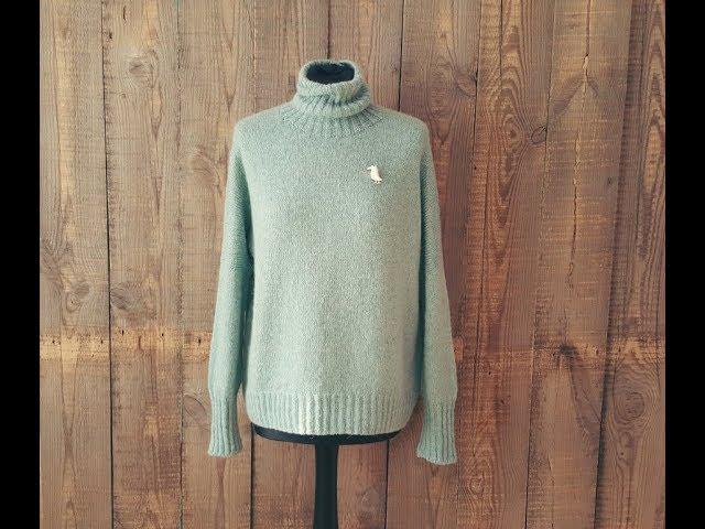 """""""Облачный свитер"""" 1-я часть. Спицами. МК."""