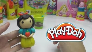 Play-Doh - How to Make SNOW WHITE with APPLE DIY