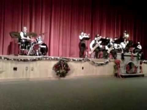 New Smyrna Beach High School Jazz Band Christmas performance  2012 program
