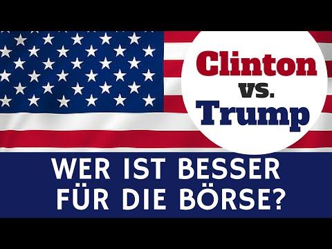 US-Wahlen: Clinton Vs. Trump - Wer Ist Besser Für Die Börse?