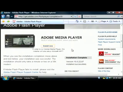 Free Download Adobe Flash Player flv youtube original