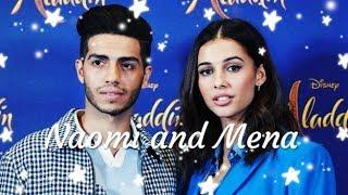 Naomi Scott and Mena Massoud-Cute moments|A whole new world