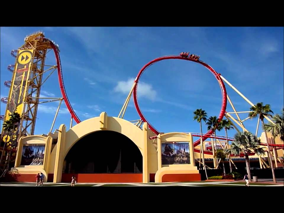 Roller Coaster Rides at Disney World Rip Ride Rocket Roller Coaster