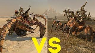 Гниющий левиафан vs Паук Арахнорока Total War Warhammer 2. тесты юнитов v1.5.0.