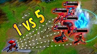 1v5 PENTAKILL COMPILATION | Horror-struck situations in League of Legends game
