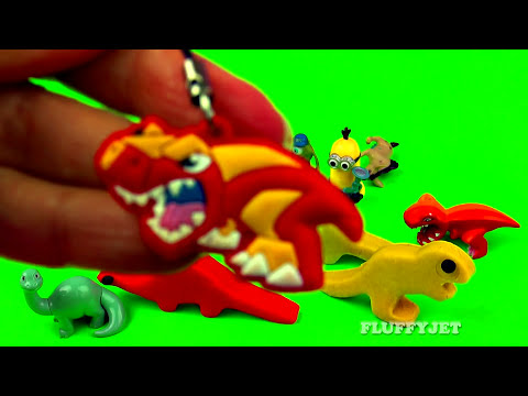 Dinosaurs Play-Doh Surprise Eggs Cars 2 Toy Story Monsters Inc Spongebob Lion King Car Toy FluffyJet
