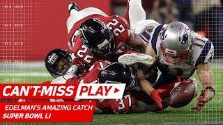 Julian Edelman Makes Ridiculous Catch!   Patriots vs. Falcons   Super Bowl LI Highlights