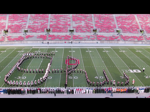 Ohio State Marching Band Script Ohio at Buckeye Invitational Great Sound 10 12 2013 from C Deck