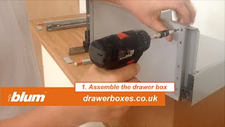 Blum Tandembox Antaro   Deep Replacement Kitchen Drawer Box   1 Of 3  Assemble The Drawer