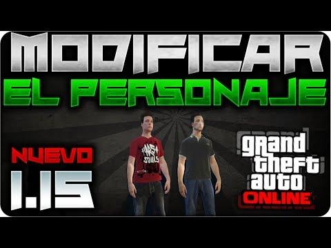 GTA V ONLINE 1.15 - Como cambiar el aspecto de tu personaje - Modificar tu jugador - GTA V 1.15