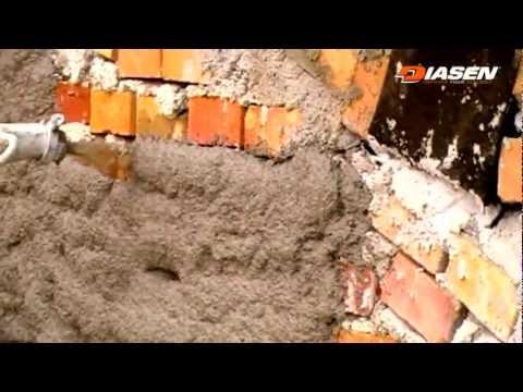 Diathonite Evolution - intonaco termo acustico base sughero Diasen - applicazione vecchia muratura