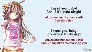 I Need You Baby - Nadiya Rawil [Can't Take My Eyes Off You] - Lyrics video dan terjemahan (Cover)