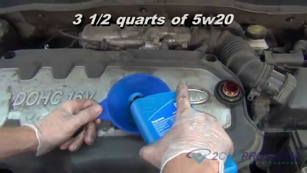 Oil Change & Filter Replacement Kia Rio 2005-2011 - YouTube