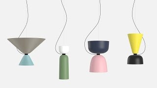 Luca Nichetto designs modular Alphabeta pendant lamps for Hem