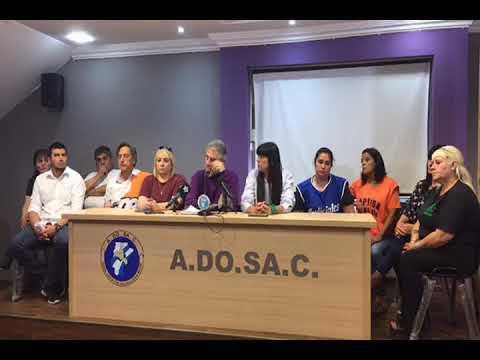 ADOSAC ANUNCIA MEDIDA DE FUERZA EN CONFERENCIA DE PRENSA